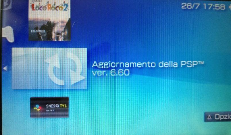 aggiornamento firmware psp