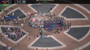riot proteste in piazza videogame