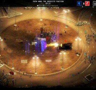 riot in piazza con carro