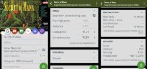 schermata my game collection app
