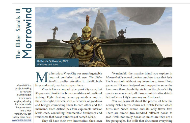 crpg book project morrowind