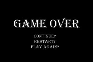 Il game over è morto