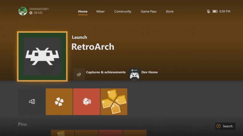 retroarch su xbox one